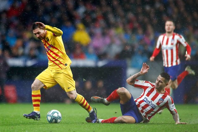 Messi en el último Atlético - Barcelona