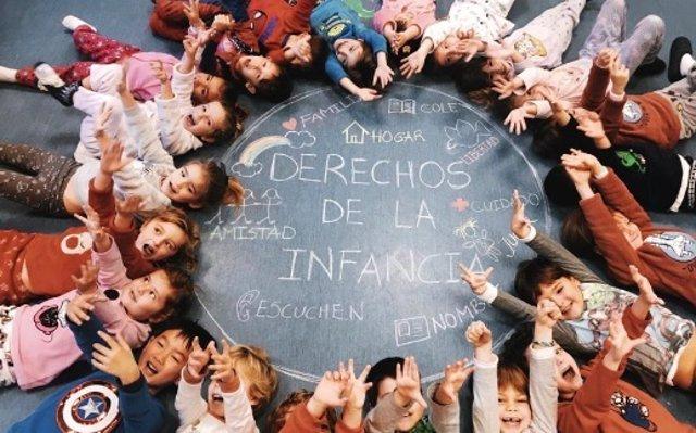 Colegio Caude de Majadahonda, Madrid celerbando el Día del Pijama
