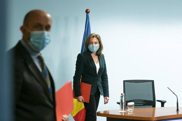 El ministre de Salut d'Andorra, Joan Martínez Benazet, i la titular de Turisme, Verònica Canals