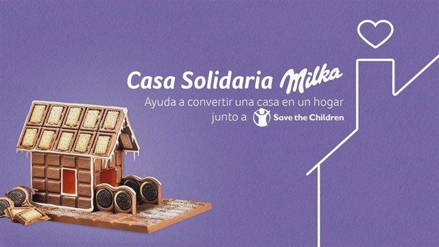 Milka anima a construir casas de chocolate a beneficio de Save The Children
