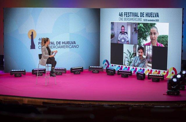 Imagen de la rueda de prensa de los ganadores de la 46 edición del Festival de Cine Iberoamericano de Huelva.