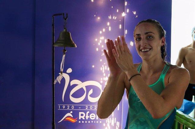 La nadadora española Lidón Muñoz, récord de España de 100 estilos