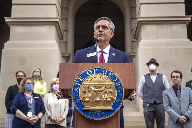 El secretario de Estado de Georgia, Brad Raffensperger.