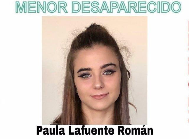 Paula Lafuente Román, joven de 16 años de edad desaparecida en Vigo el 9 de noviembre
