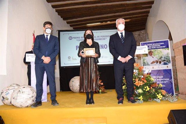 Acto entrega VIII Premio Manu Leguineche a la periodista Pepa Bueno