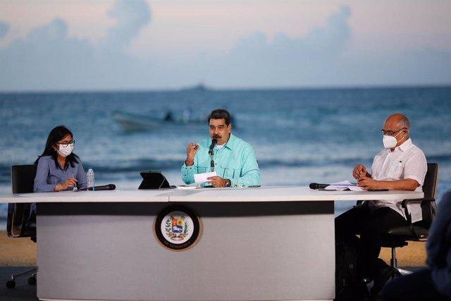 Nicolas Maduro en un acte governamental a La Guaira