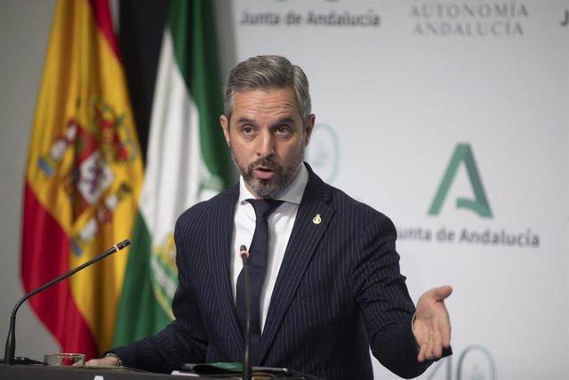 El consejero de Hacienda y Financiación Europea, Juan Bravo, en una foto de archivo.