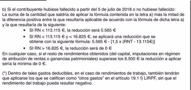 Ejemplo de la complejidad del lenguaje utilizado en los formularios de la Comunidad de Madrid para solicitar una plaza de guardería.