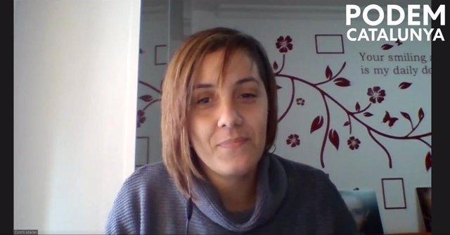 La líder de Podem Catalunya, Conchi Abellán