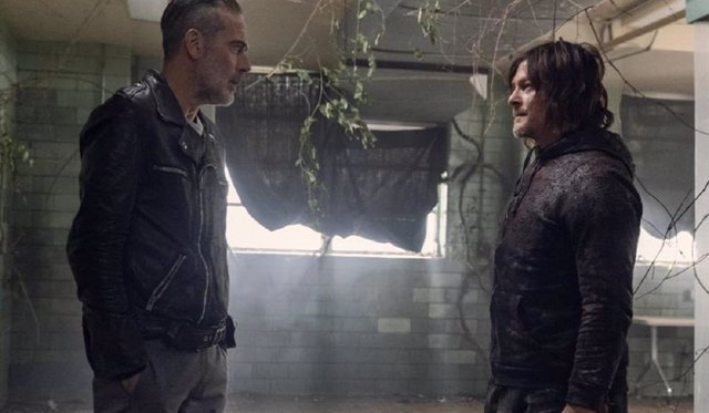 Negan y Daryl en The Walking Dead
