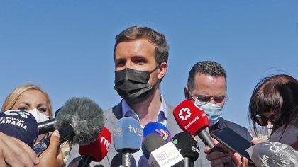Casado responsabiliza a Sánchez de la crisis migratoria y le pide que ponga orden en su Gobierno