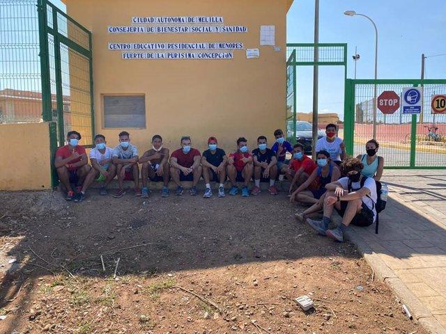 Imagen de archivo de una de las actividades realizadas por los menores del Centro de La Purísima de Melilla