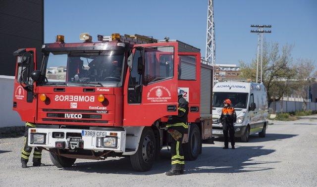 Un incendio calcina por completo un restaurante en Beas de Segura.
