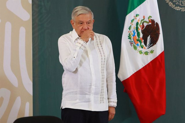 31 May 2020, Mexico, Cancun: Mexican Preisdent Andres Manuel Lopez Obrador attends a press conference held in Cancun. Photo: Francisco Estrada/NOTIMEX/dpa