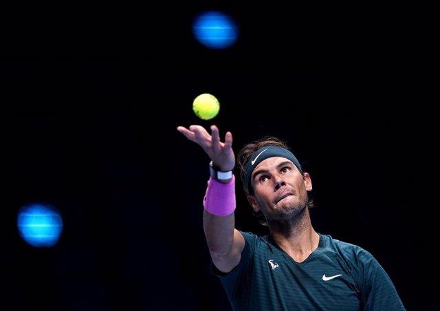 El tenista español Rafael Nadal en el ATP Finals de Londres