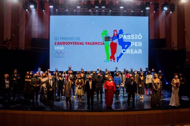 Galla de los III Premis de l'Audiovisual Valencià