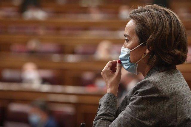 La portavoz el Grupo Popular, Cuca Gamarra, en el Pleno del Congreso.