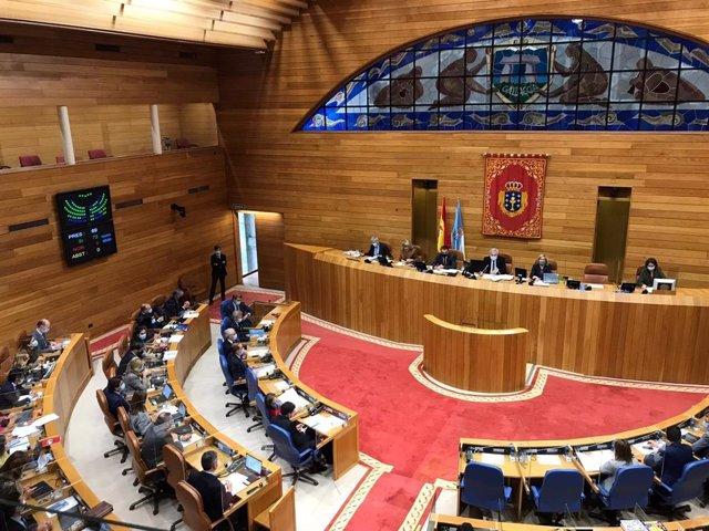 Votación para la creación, por tercera vez, de la comisión de investigación de las cajas gallegas, su fusión y posterior bancarización y en la que se abordarán también las indemnizaciones a exdirectivos