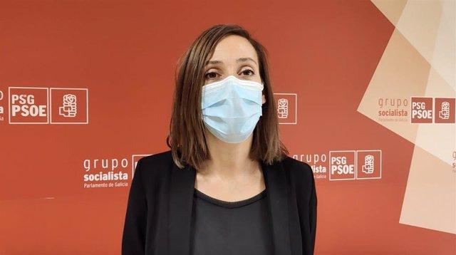 A deputada do PSdeG no Parlamento galego Noa Díaz.