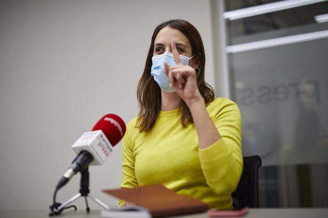 La portavoz de Más Madrid en el Ayuntamiento, Rita Maestre, durante una entrevista para Europa Press en la sede de la agencia