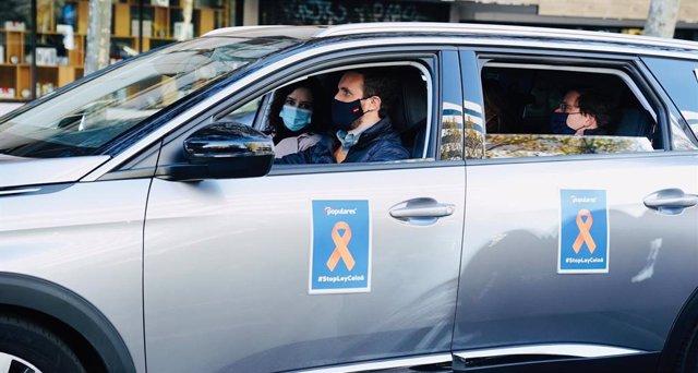 El president del PP, Pablo Casado, es manifesta a Madrid en contra de la 'llei Celaá'