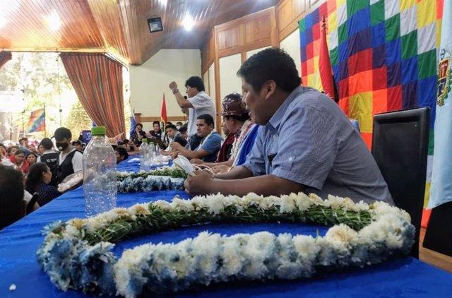 Ampliado Nacional del Movimiento Al Socialismo (MAS) con Evo Morales en Cochabambla, Bolivia