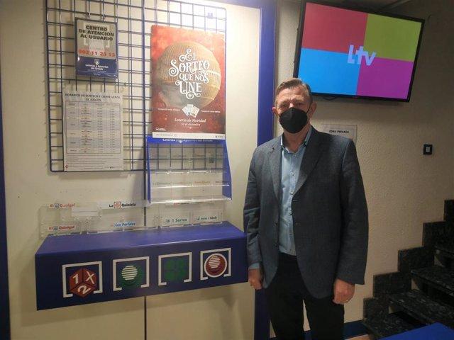 El delegado en La Rioja de Loterías y Apuestas del Estado, Carlos Ruiz