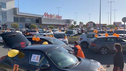 """El sector de la concertada protesta contra la Ley Celaá con caravanas de coches y acusa al Gobierno de """"mala fe"""""""
