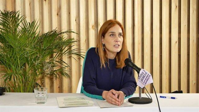 La líder dels comuns al Parlament, Jéssica Albiach, en un vídeo del partit.