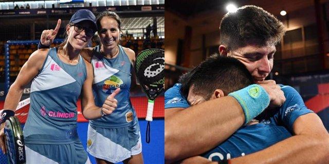 Lucía Sainz y Gemma Triay y Fede Chingotto y Juan Tello, campeones del Cupra Las Rozas Open del World Padel Tour