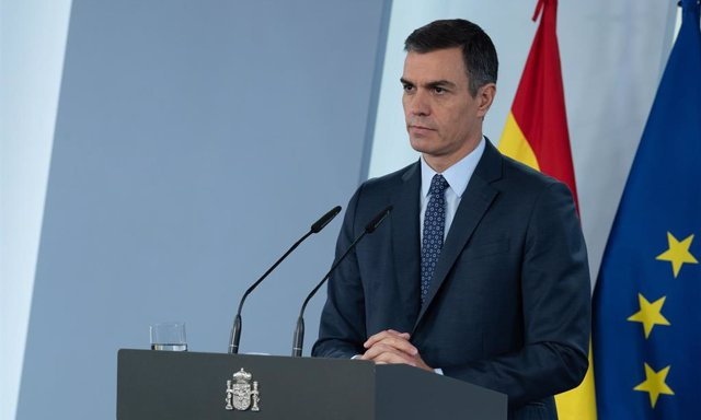 El presidente del Gobierno, Pedro Sánchez, ofrece una rueda de prensa