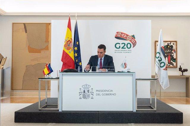 El presidente del Gobierno, Pedro Sánchez, comparece en rueda de prensa tras su participación en la segunda jornada de la Cumbre del G20