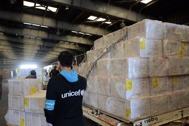Vacunas para niños de Yemen gestionadas por UNICEF