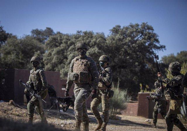 Soldados de la Legión en una maniobra