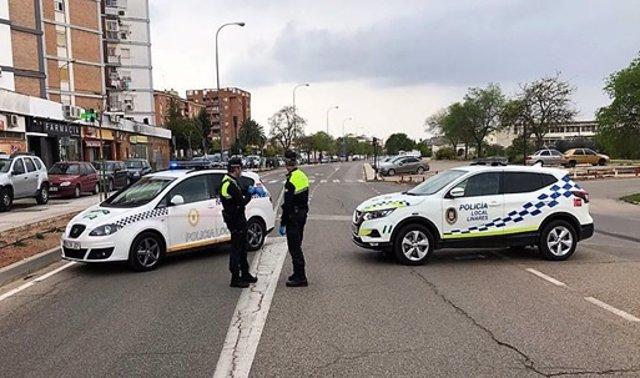 Imagen de archivo de un control de la Policía Local en Linares.