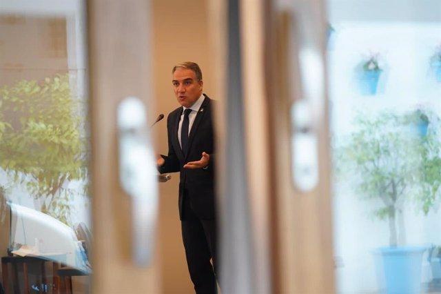 Elías Bendodo, consejero de la Presidencia, Administración Pública e Interior de la Junta de Andalucía