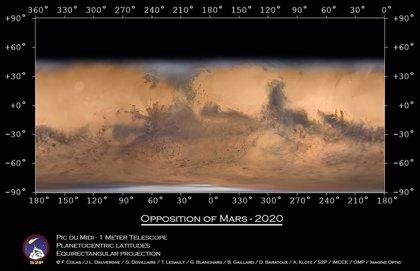 Posiblemente el mejor mapa de Marte con imágenes tomadas en la Tierra