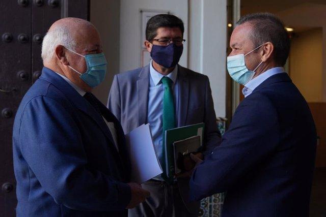 Juan Marín este domingo antes de anunciarse las nuevas medidas por el Covid en Andalucía