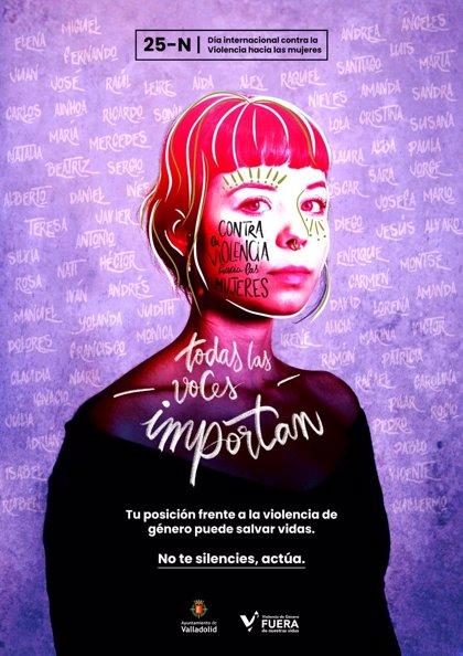 Valladolid afronta el día contra la violencia de género bajo el lema 'Todas las voces importan. No te silencies, actúa'