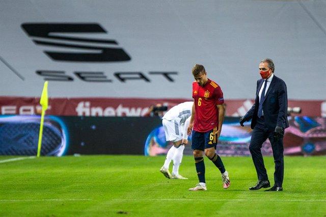 Canales se retira lesionado con España
