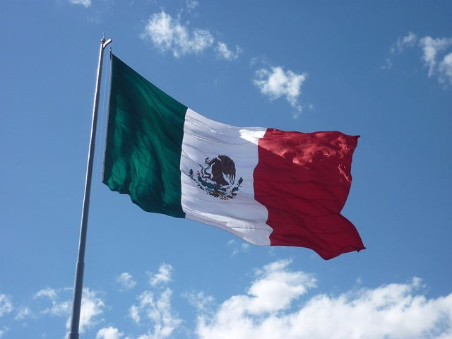 Imagen de archivo de una bandera mexicana.