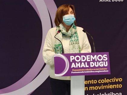 """Garrido lamenta que haya partidos vascos que """"no soporten"""" que los PGE """"lleven la huella"""" de Podemos Euskadi"""