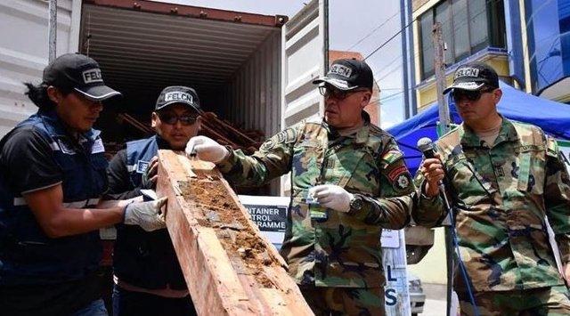 Incautación de cocaína en Bolivia