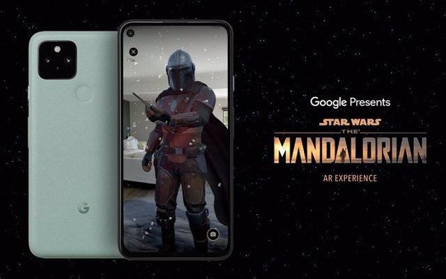Experiencia de Realidad Aumentada de The Mandalorian en Android.