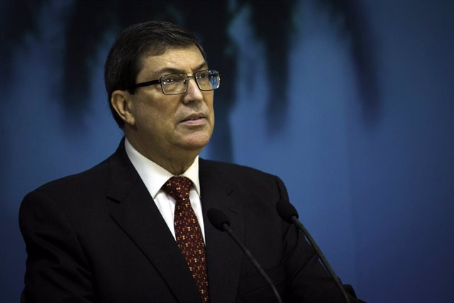 22 October 2020, Cuba, Havana: Cuban Foreign Relations Minister Bruno Rodriguez Parrilla speaks during a press conference about US blockade on Cuba. Photo: Irene Perez/TheNEWS2 via ZUMA Wire/dpa