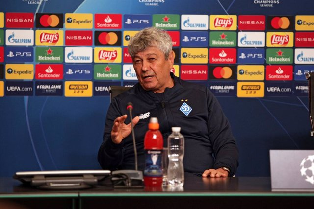 19 October 2020, Ukraine, Kyiv: Dynamo Kyiv coach Mircea Lucescu attends a press conference ahead of Tuesday's UEFA Champions League Group G soccer match against Juventus FC. Photo: -/Ukrinform/dpa