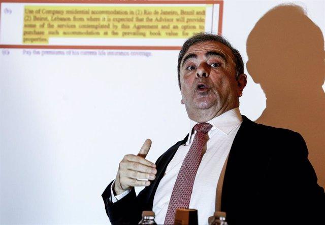 El expresidente de Nissan, Carlos Ghosn.