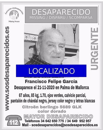 Localizan a un hombre de 67 años desaparecido desde el sábado en Palma