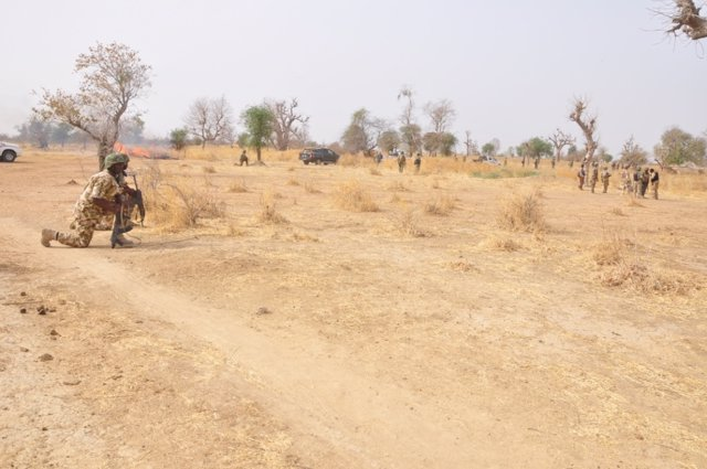 Un soldado en Nigeria
