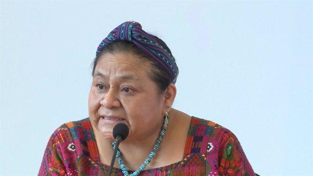 La premio Nobel de la Paz Rigoberta Menchú en la Conferencia sobre Igualdad, Inclusión y Diversidad del Consejo de Municipios y Regiones de Europa